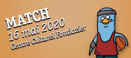 MATCH 16/05 Centre Culturel Fontlozier